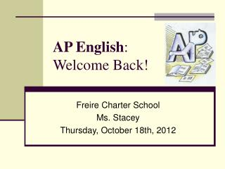 AP English : Welcome Back!