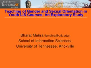 Teaching of Gender and Sexual Orientation in Youth LIS Courses: An Exploratory Study