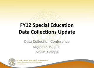 FY12 Special Education  Data Collections Update