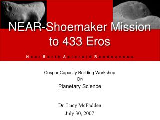NEAR-Shoemaker Mission to 433 Eros
