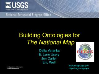 Building Ontologies for  The National Map