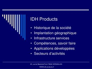 IDH Products