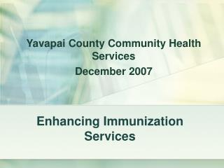 Enhancing Immunization Services