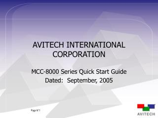 AVITECH INTERNATIONAL CORPORATION