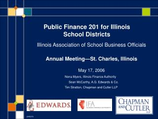 Public Finance 201 for Illinois School Districts