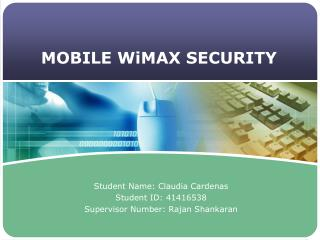 MOBILE WiMAX SECURITY
