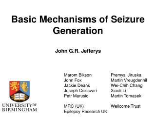 Basic Mechanisms of Seizure Generation