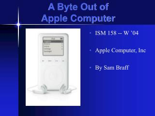 A Byte Out of Apple Computer