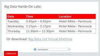 Big Data  Hands-On  Labs: