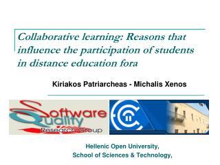 Hellenic Open University, School of Science s & Technology,
