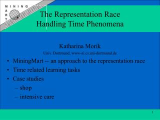 The Representation Race Handling Time Phenomena