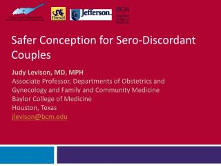 Safer Conception for Sero-Discordant Couples