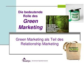 Die bedeutende Rolle des  Green Marketing