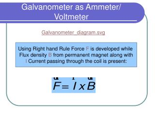 Galvanometer as Ammeter/ Voltmeter