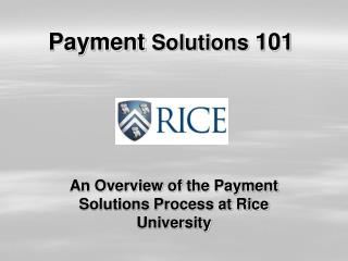 Payment  Solutions  101