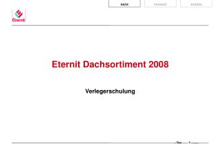 Eternit Dachsortiment 2008