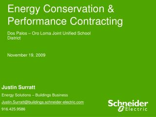 Energy Conservation & Performance Contracting