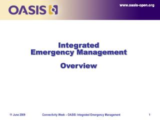 Integrated  Emergency Management Overview