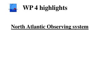 North Atlantic Observing system