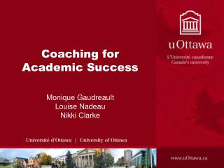 Coaching for Academic Success