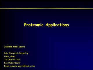 Proteomic Applications