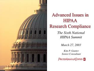 Advanced Issues in HIPAA Research Compliance