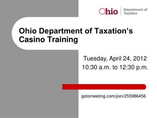 Ohio Department of Taxation's Casino Training