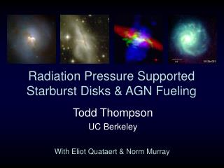 Radiation Pressure Supported Starburst Disks & AGN Fueling