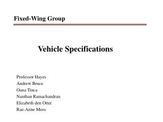 Fixed-Wing Group
