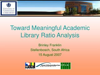Toward Meaningful Academic Library Ratio Analysis