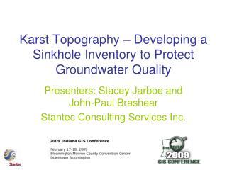 Karst Topography – Developing a Sinkhole Inventory to Protect Groundwater Quality
