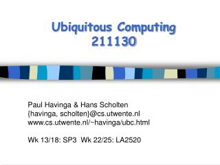 Ubiquitous Computing 211130