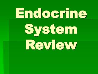 Endocrine System Review