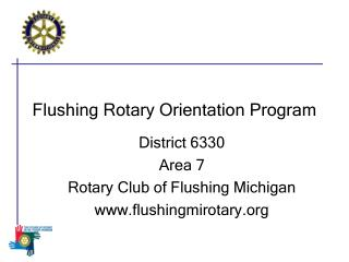 Flushing Rotary Orientation Program