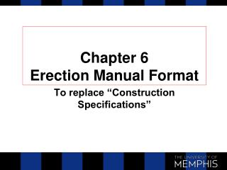 Chapter 6 Erection Manual Format