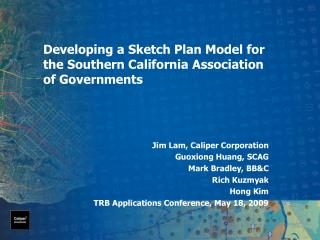 Developing a Sketch Plan Model for the Southern California Association of Governments