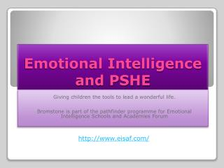 Emotional Intelligence and PSHE