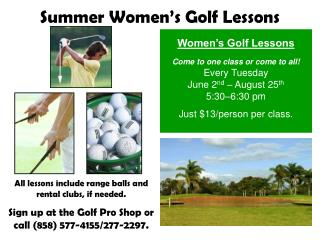 Women's Golf Lessons