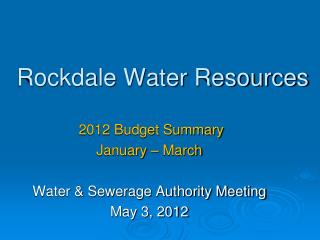 Rockdale Water Resources