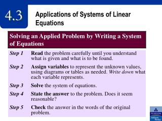 Applications of Systems of Linear Equations
