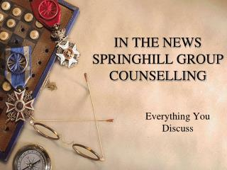 IN THE NEWS - SPRINGHILL GROUP COUNSELLING - Stem Cell Trea