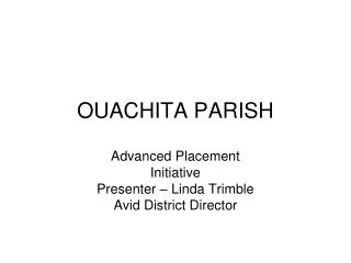 OUACHITA PARISH