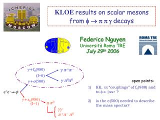 KLOE results on scalar mesons from   decays