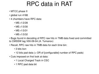 RPC data in RAT