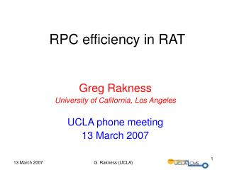 RPC efficiency in RAT
