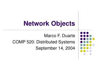 Network Objects