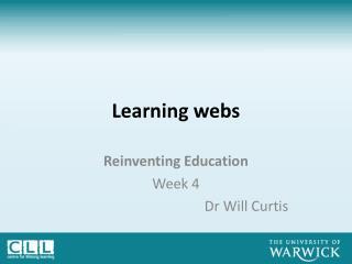 Learning webs