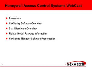 Honeywell Access Control Systems WebCast