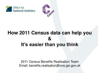 How 2011 Census data can help you & It's easier than you think