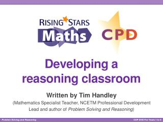 Developing a  reasoning classroom